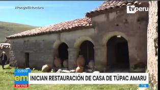 Cusco: inician trabajos de restauración de casa de Túpac Amaru