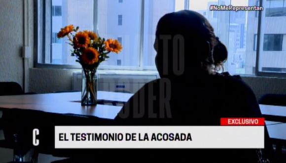 Periodista dio su testimonio sobre denuncia por acoso sexual contra Lescano. (Foto: Cuarto Poder)