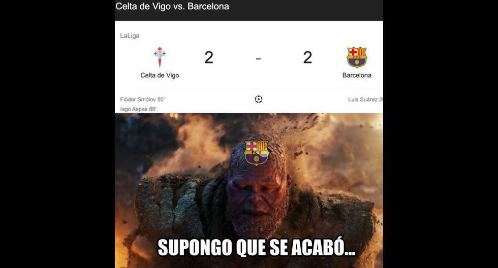 Los mejores memes del empate entre Barcelona y Celta de Vigo. (Foto: Facebook)