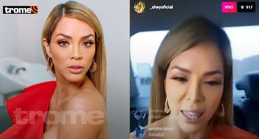 Sheyla Rojas reaparece con un rostro distinto y pierde la paciencia con sus críticos durante enlace en vivo
