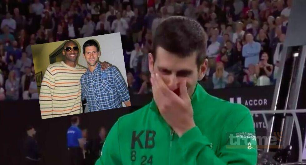 Novak Djokovic llora  tras  recordar a su amigo  Kobe Bryant