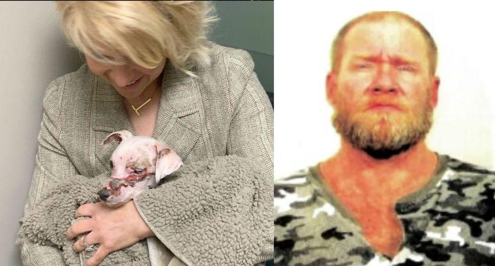 Pequeño perrito fue víctima de la crueldad de este sujeto. (Redes sociales)