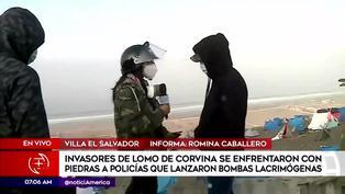 Invasores de Lomo de Corvina se enfrentan a reportera e intentan sacarla de la zona