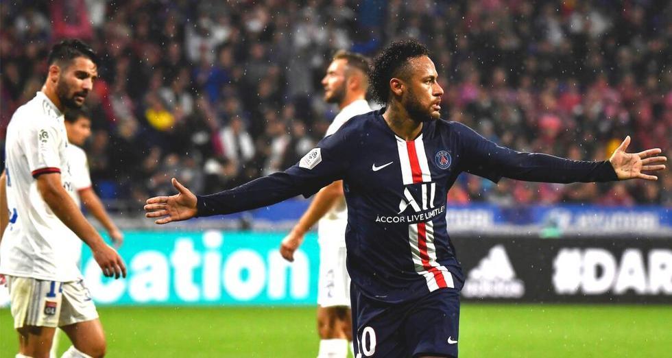 Neymar salva al PSG en su visita al Lyon