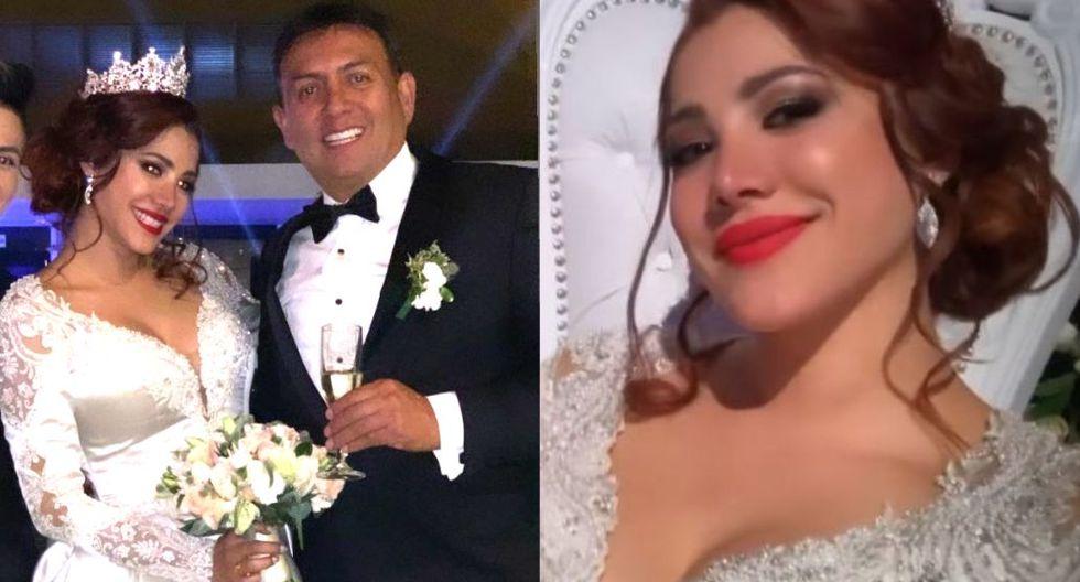 Leslie Castillo se casó con empresario de minas arequipeño en fastuosa boda