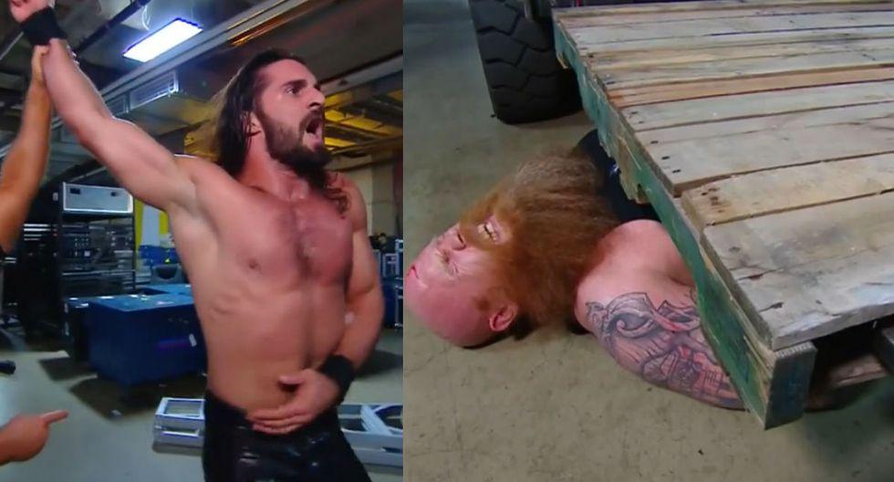 Seth Rollins tuvo en Erick Rowan a un duro rival. (Captura FOX Sports 2)