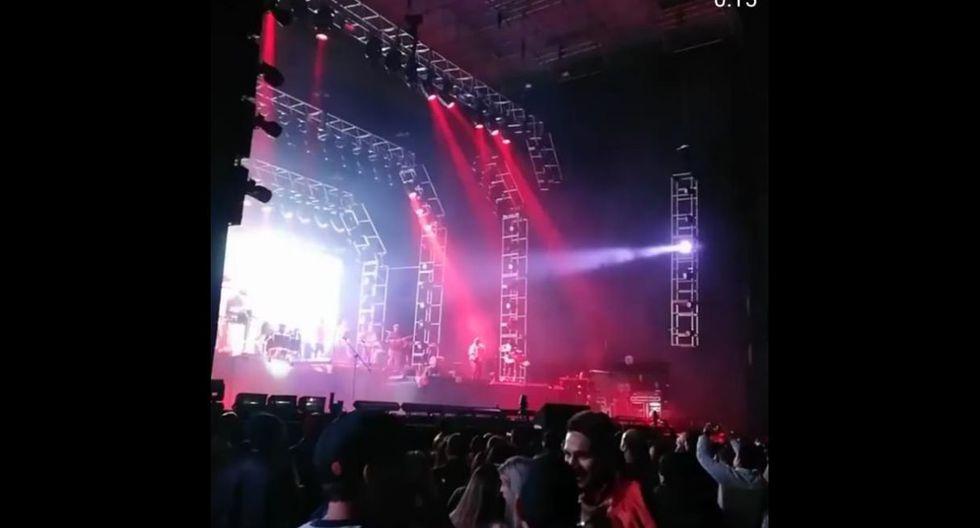 Paolo Guerrero y Thaísa Leal en concierto