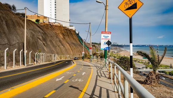Municipalidad de Lima rehabilitó 25 kilómetros de ciclovía en 8 distritos de la capital (Foto: Municipalidad de Lima)