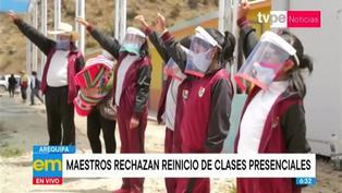 Arequipa: profesores rechazan reinicio de clases presenciales