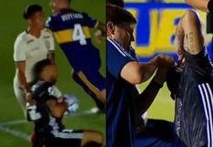 Universitario: Dos Santos choca con arquero de Boca y le hizo perder los lentes de contacto VIDEO