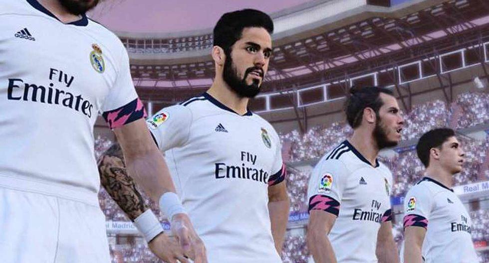 El videojuego Pro Evolution Soccer mostró imágenes con la camiseta principal de Real Madrid. (Foto: eSports)