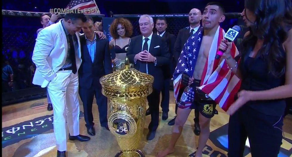 Andrés 'Bullet' Quintana se lució en la semifinal y en la final del torneo. (Combate Américas)
