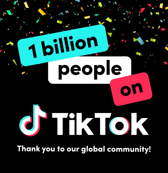 TikTok anuncia que llegó a más de mil millones de usuarios activos