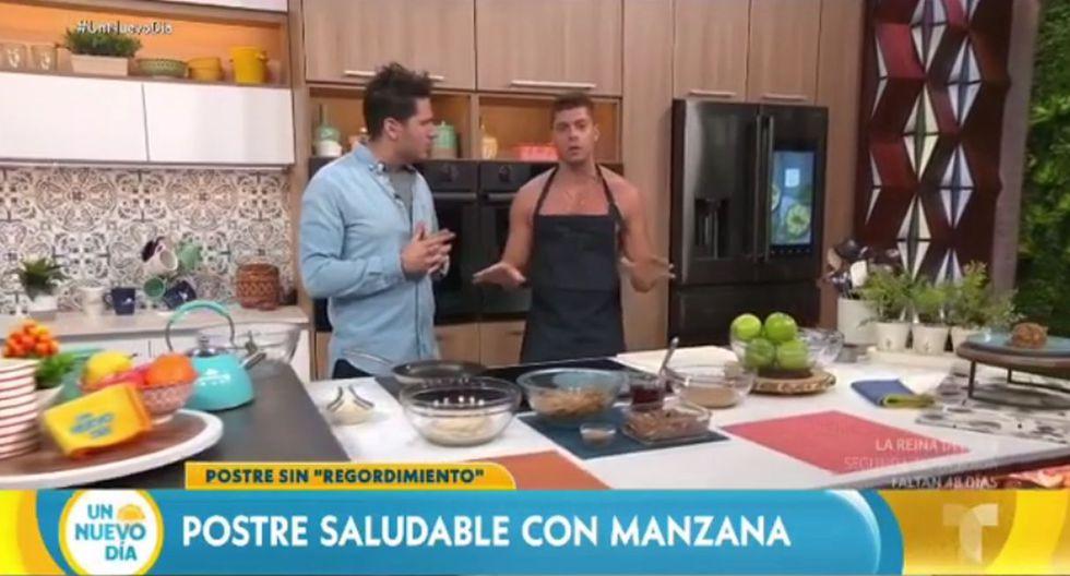 """Ignacio Baladán se presentó este martes en el programa """"Un nuevo día"""" de Telemundo y se lució junto a Adamari Lopez. (Foto: Captura de video)"""