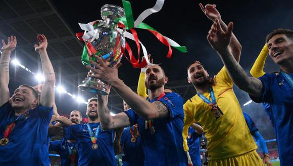 Italia se consagró campeón de la Eurocopa tras vencer (3-2) en penales a Inglaterra. (Foto: AFP)