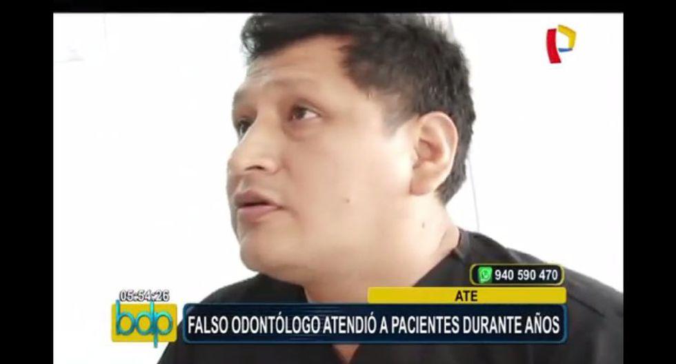 En Ate, la Policía y el Colegio Odontológico del Perú intervinieron a un falso dentista. (Captura)