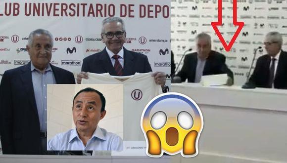 Blooper vergonzoso de administrador de Universitario: No sabía nombre del DT, lo llamó Gregorio Santos y tuvo que leer letrero