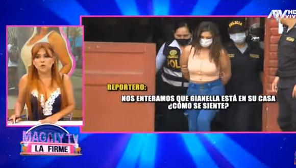 Magaly Medina dijo que Gianella Ydoña fue liberada. (Magaly Tv. La firme)