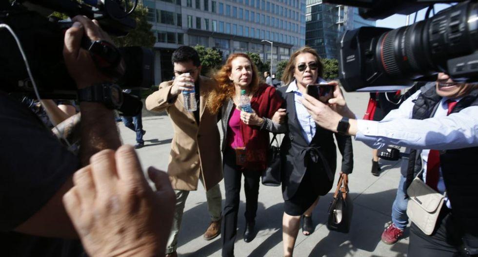 Eliane Karp en el edificio de la Corte de California para la audiencia de fianza de Alejandro Toledo. Foto: Mario Zapata