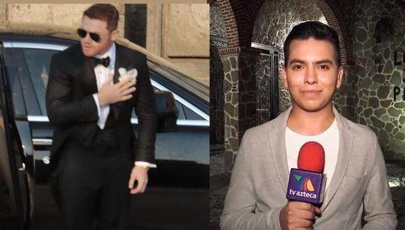 Reportero Kevin Casillas afirmó que el auto del Canelo Álvarez le pasó por encima de los pies. (Instagram/ Redes sociales)