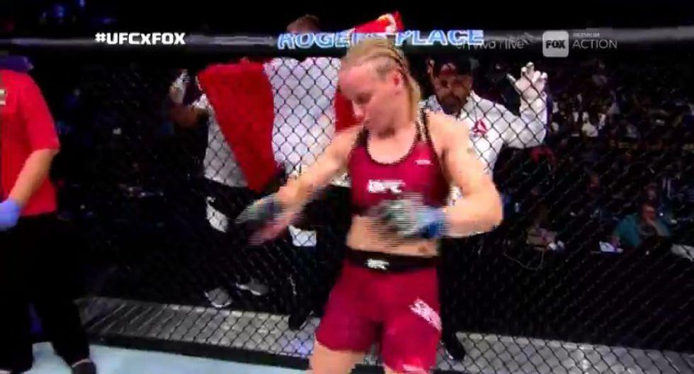 Valentina Shevchenko enfrentó a Amanda Nunes. (Captura UFC)