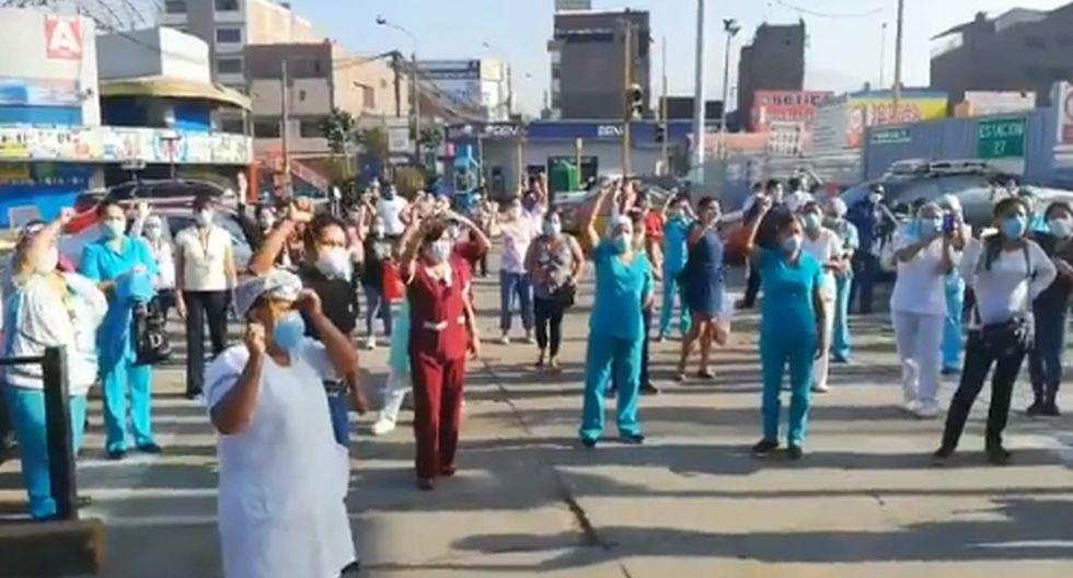 Personal de salud del Hospital Vitarte hace huelga y reclaman equipos de protección contra el coronavirus
