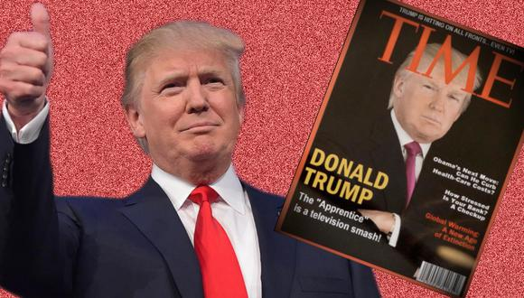 Donald Trump falsea portada de Time.