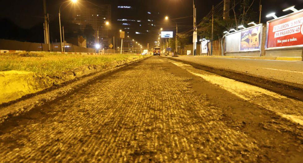 Los trabajos se realizarán de 10 p.m. a 5 a.m., a fin de evitar restringir la circulación en horas de gran afluencia de vehículos. (Municipalidad de Lima)