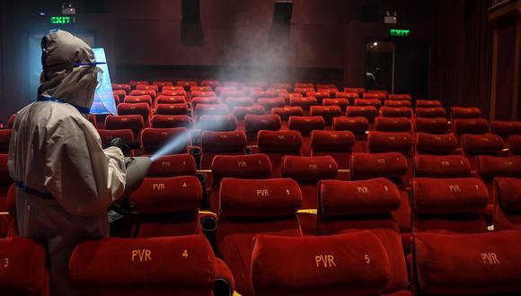 Así son los cines en China en julio de 2020. (Foto: AFP)