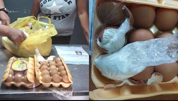 Arequipa: mujer cae por llevar huevos rellenos de droga e intentar ingresar a penal  (Foto: INPE)