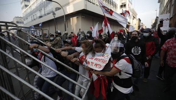 Disturbios en Cercado de Lima. (Foto: Joel Alonzo)