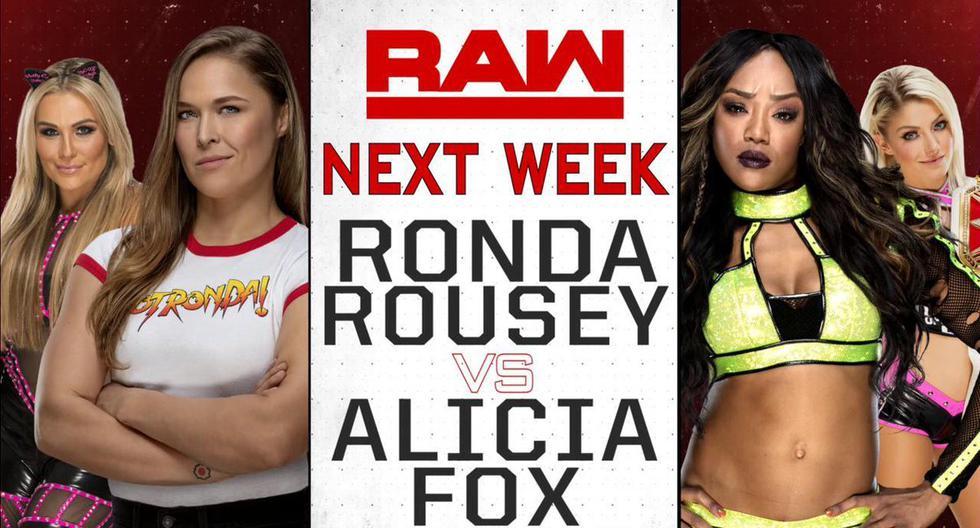 Ronda Rousey tendrá su primera lucha en Monday Night RAW. (WWE)