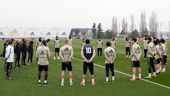 Real Madrid rindió homenaje a Kobe Bryant con un minuto de silenco. (Foto: Real Madrid)