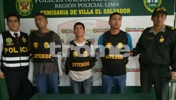 Policías de la comisaría de Villa El Salvador atraparon a la banda 'Los Terribles de Oasis', quienes  a bordo de una combi se dedicaban  a asaltar por las madrugadas en el distrito.