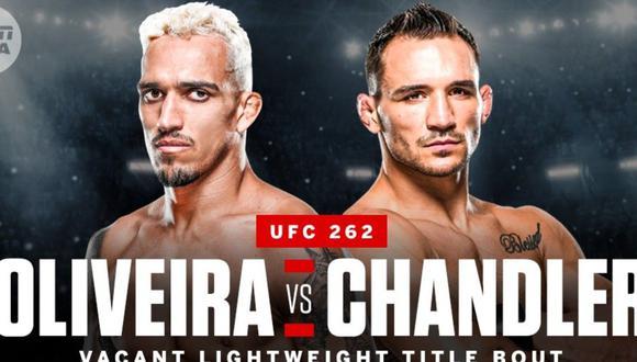 Entre Michael Chandler y Charles Oliveira saldrá el sucesor de Khabib Nurmagomedov. (ESPN MMA)