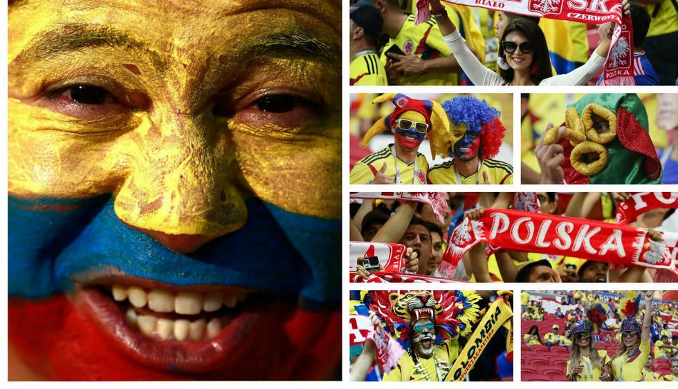 Colombia vs Polonia: Hinchas vivieron una verdadera fiesta en las tribunas del Kazán Arena | FOTOS