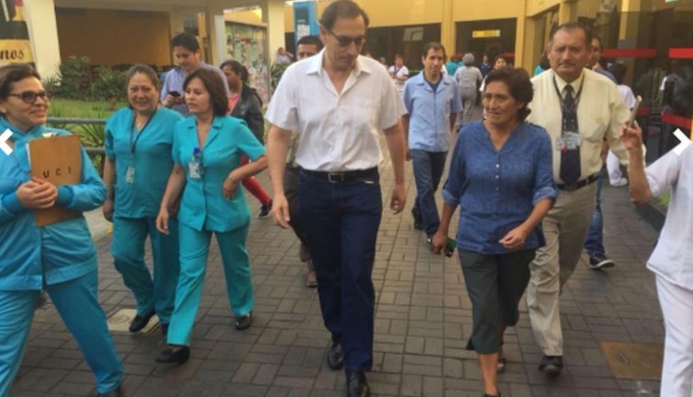 Martin Vizcarra en el Hospital del Niño