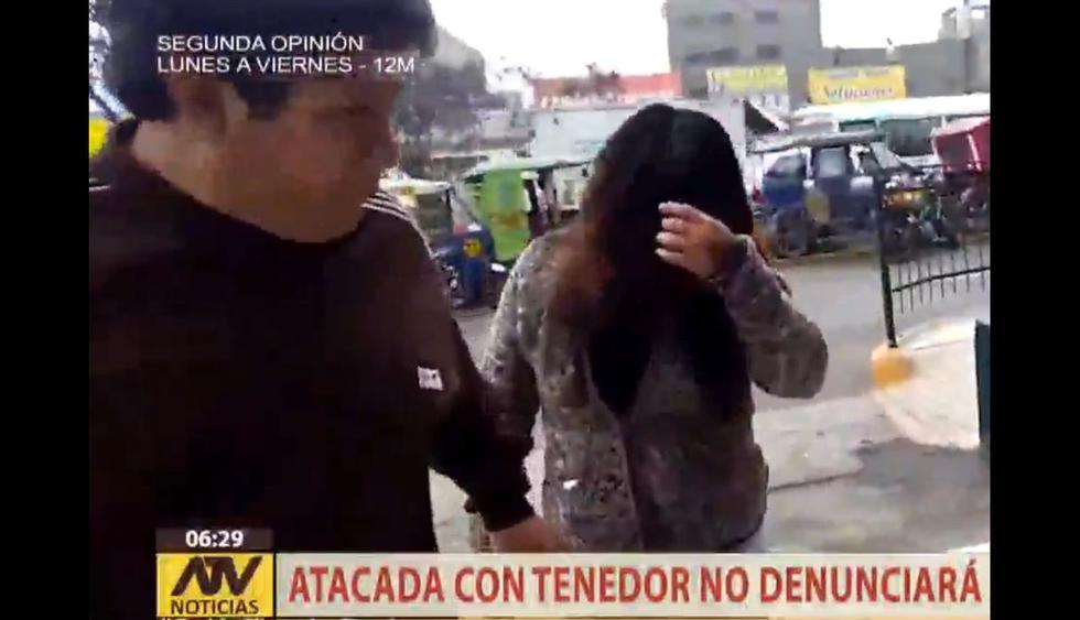 Mujer fue atacada con tenedor en el rostro