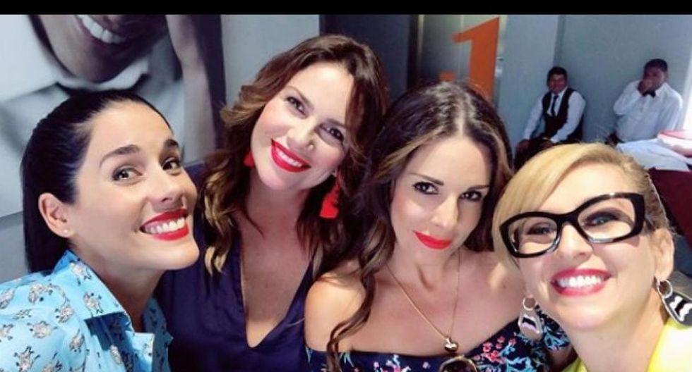 Gianella Neyra, Rebeca Escribens, Katia Condos y Almendra Gomelsky vienen pasando unas divertidas vacaciones en México. (Foto: Difusión)