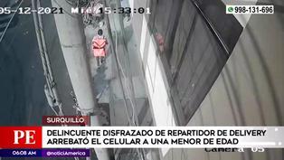 Surquillo: delincuente disfrazado de repartidor robó celular a menor de edad