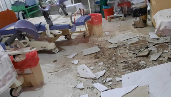 Junín: hasta el establecimiento médico llegó personal de la Dirección Regional de Salud de Junín, quienes inspeccionaron el lugar. (Foto: Difusión)