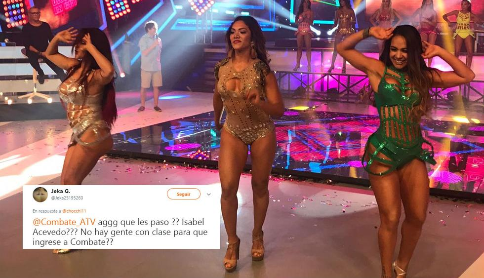 Isabel Acevedo ingresó a Combate e inmediatamente en las redes sociales criticaron al reality por tenerla entre sus filas.