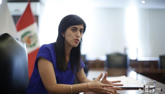 María Antonieta Alva, ministra de Economía y Finanzas, tiene un pedido de interpelación en su contra en el Congreso. (Foto: GEC)