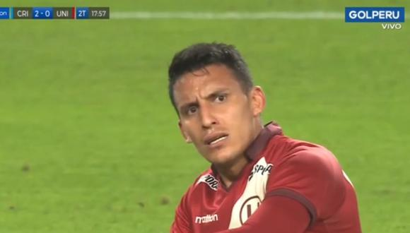 Alex Valera no pudo marcar el descuento frente a Sporting Cristalo por Liga 1.