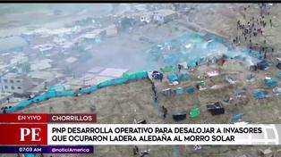 Invasores se retiran ante operativo de desalojo en zona aledaña al Morro Solar
