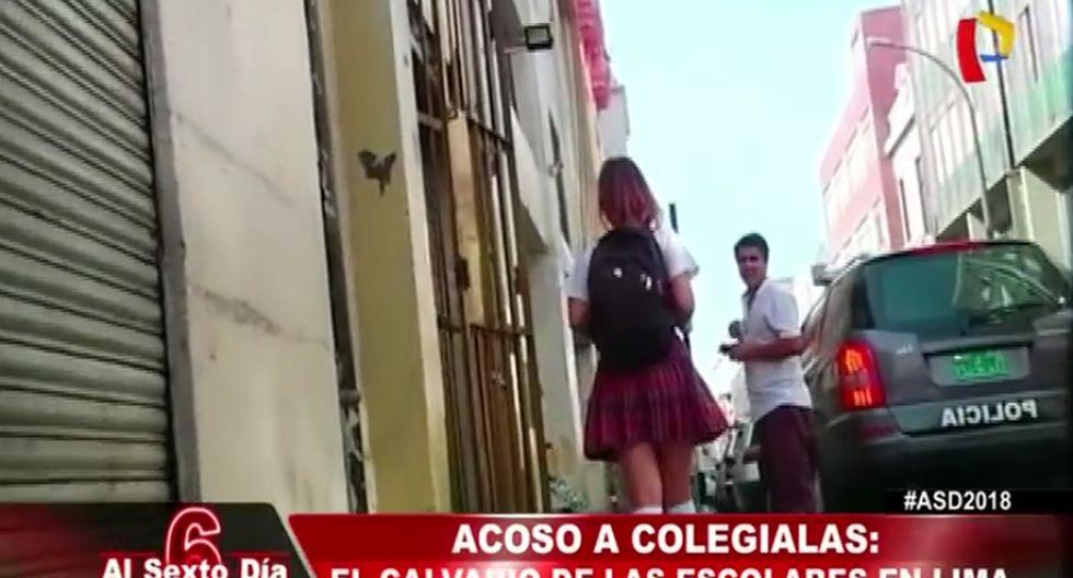 Periodista demostró que escolares son acosadas constantemente en las calles de Lima.