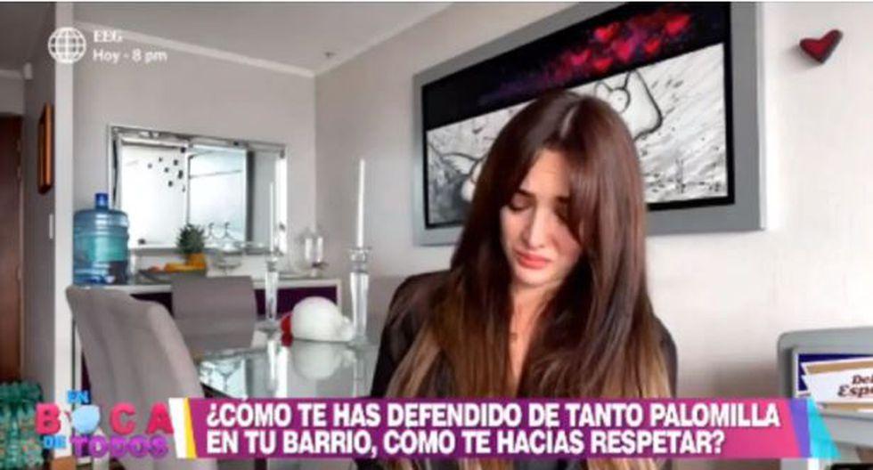 Rosángela Espinoza llora por mamá