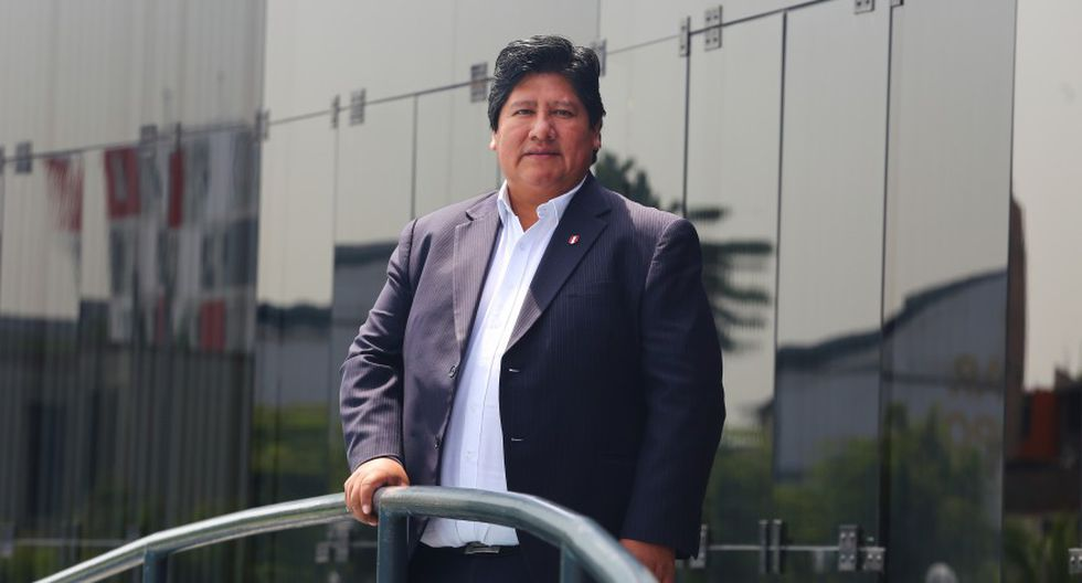 Edwin Oviedo es presidente de la Federación Peruana de Fútbol desde 2014 (Foto: El Comercio).