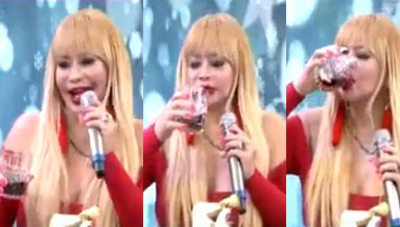 Susy Díaz se embriaga en programa de Magaly tras ampay de Walter Obregón