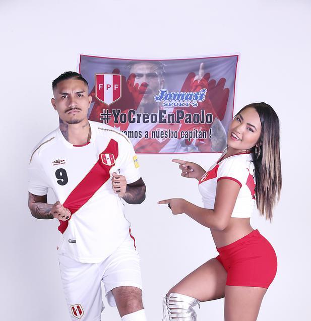 Oriana con el doble de Guerrero